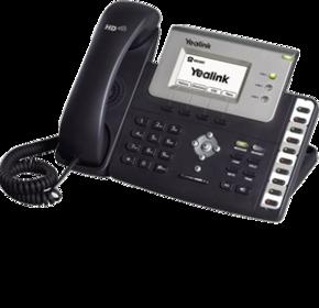 Yealink SIP-T26P IP телефон на 3 линии с дисплеем и панелью со статусом абонентов(BLF)